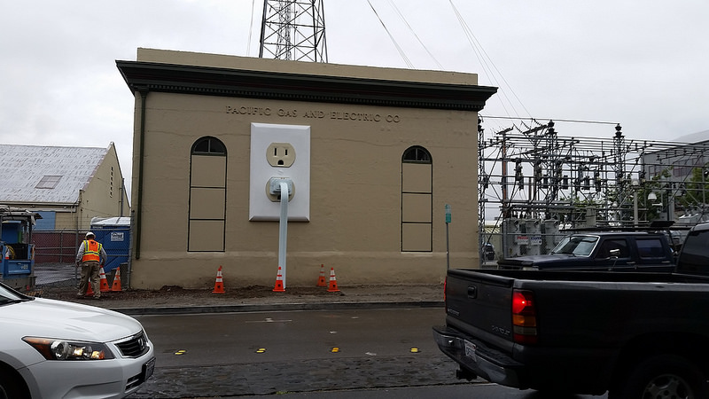 Giant Electrical Outlet